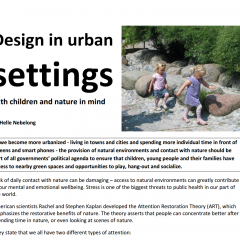 Design in Urban Settings